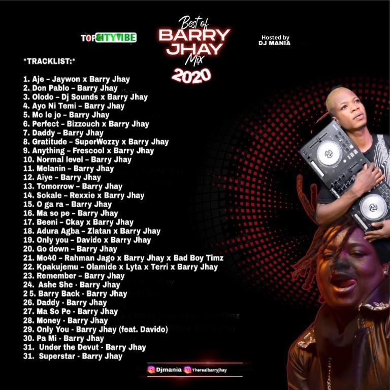 DJ Mania – Best Of Barry Jhay Mix 2020